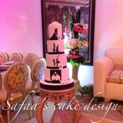 صفاء س كيك ديزاين-كيك الزفاف-الدار البيضاء-3