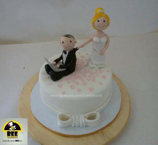 بي ذا كوك - كيك الزفاف - القاهرة