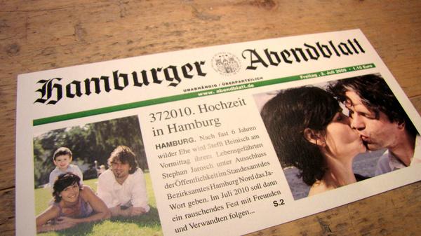 Die Drucker Wittrin e.K. - Hochzeitseinladungen - Hamburg