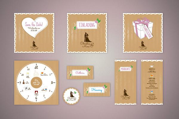 Dagmar Yanbak Grafikdesign - Hochzeitseinladungen - Köln