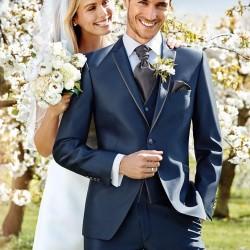 Blaue Hochzeitsanzüge