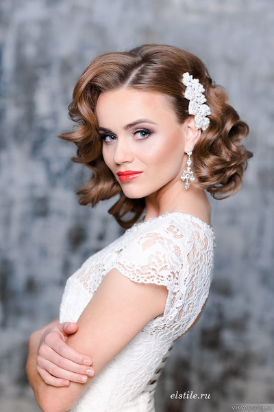 Hochzeitsfrisuren kurze haare locken