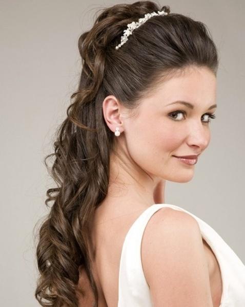 Brautfrisur Mit Pony Und Schleier Helle Haarfarbe 2019