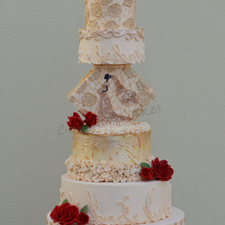 الكرمل-كيك الزفاف-الدوحة-2