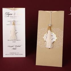 القلم الذهبي لبطاقات الزفاف-دعوة زواج-المنامة-1