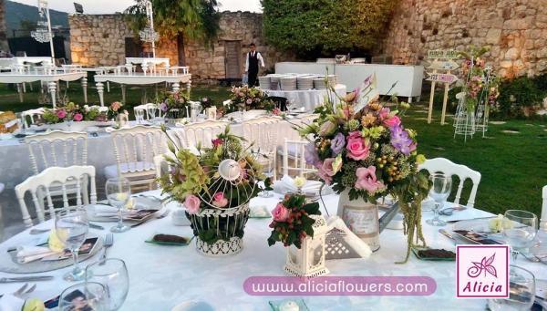 أليسيا للزهور - زهور الزفاف - بيروت