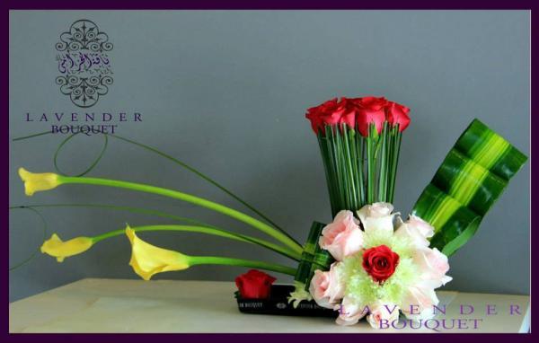 لافاندر بوكيه - زهور الزفاف - مسقط
