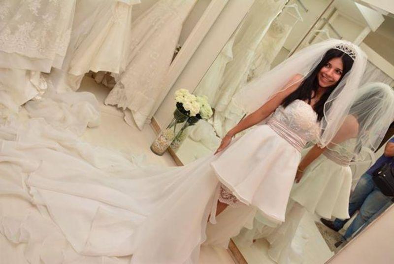 اماني الشريف - فستان الزفاف - القاهرة