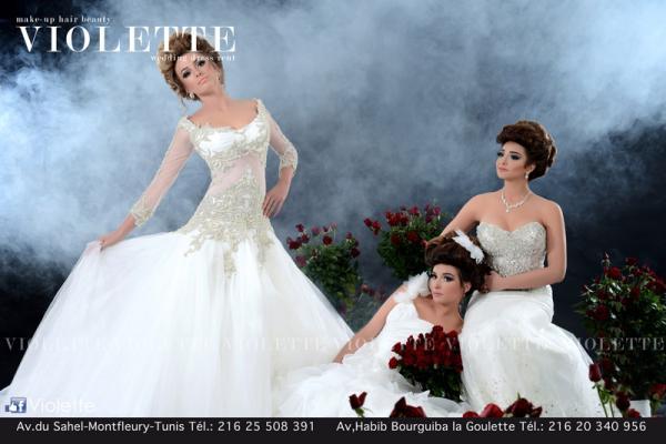 فيولت - فستان الزفاف - مدينة تونس