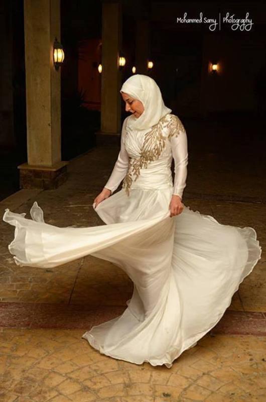 نسمة حلمى - فستان الزفاف - القاهرة