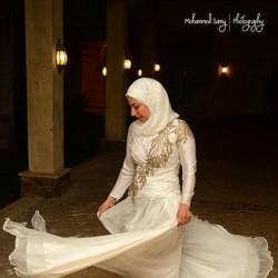 نسمة حلمى-فستان الزفاف-القاهرة-1