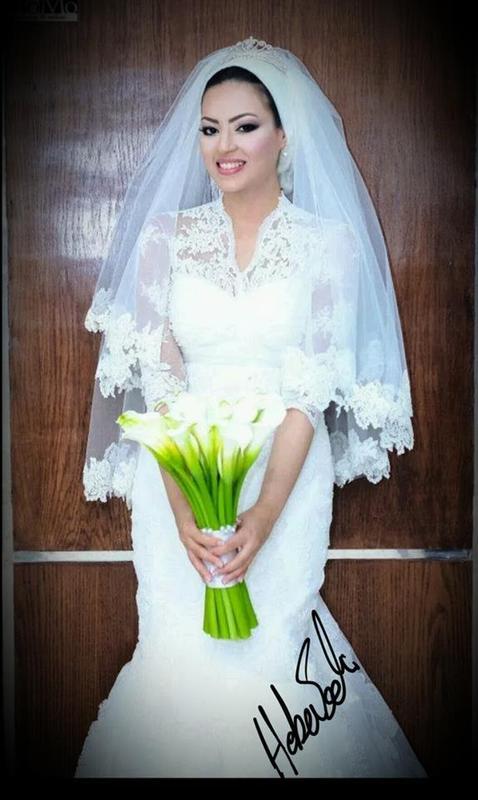 هبة ادريس - فستان الزفاف - القاهرة