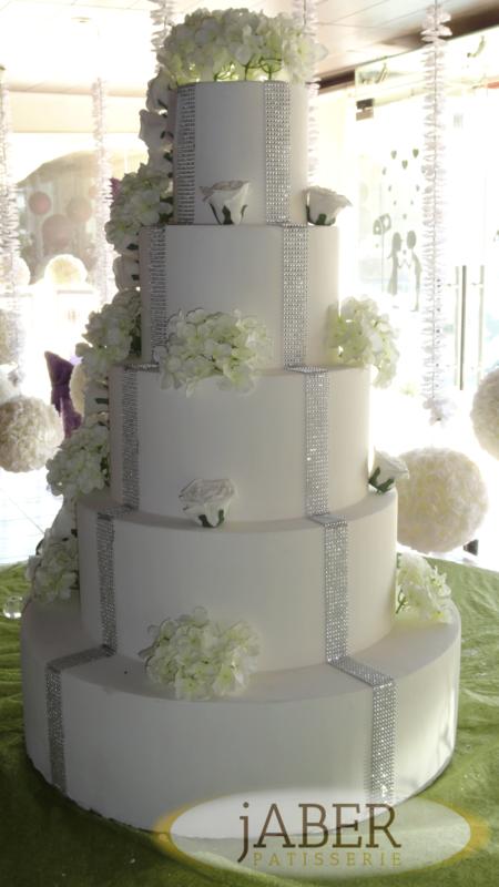 حلويات جابر - كيك الزفاف - بيروت